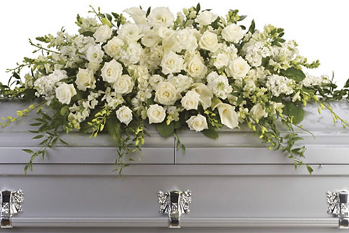 Casket Arrangment, Custom Colors