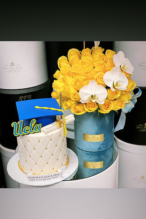 UCLA Cake and Flower