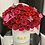 Thumbnail: Medium Size Preserved Roses Box in Color Hot Pink and Red