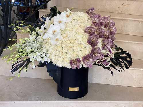 Extra Large Flower Arrangement With Touchup Purple Color