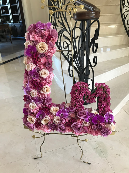 Large Size Letter Flowers 30""