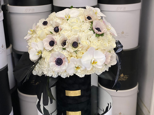 Medium to Large Size Bouquet in Color Black and White