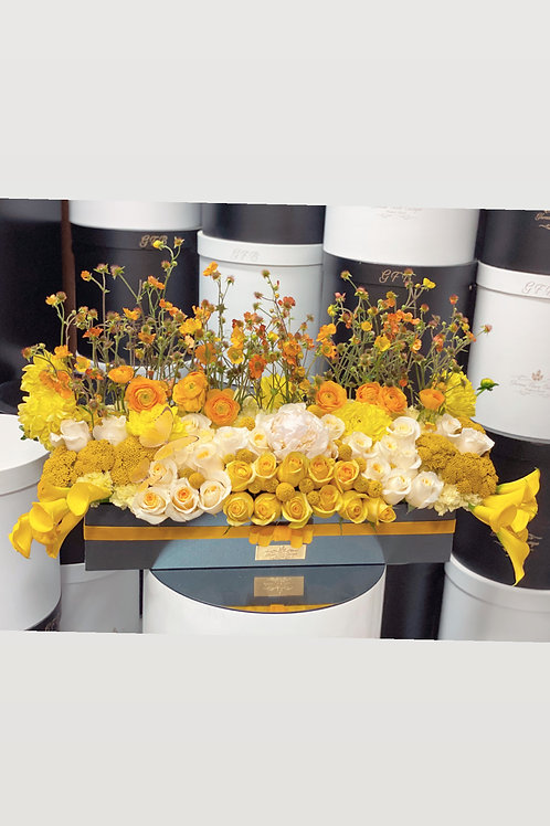 Set of Large Size Flowers and Cake in ColorYellow and black