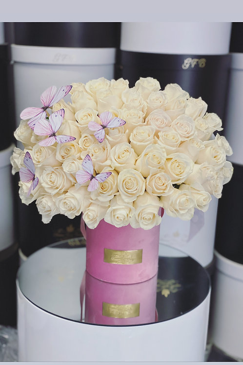 Medium Size Bouquet  50 Roses