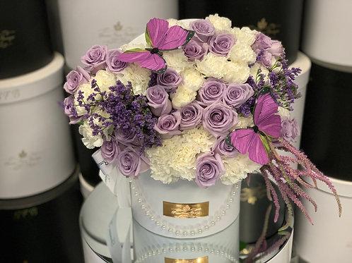 Medium Size Flower Arrangement in purple color