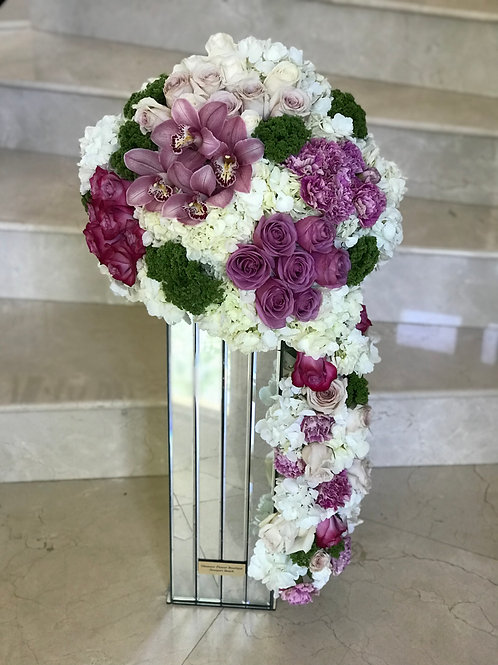 Large Cascade Wedding Flower Arrangment