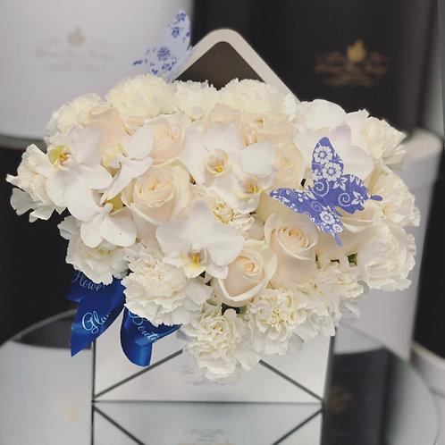Envelope Arrangement in All White