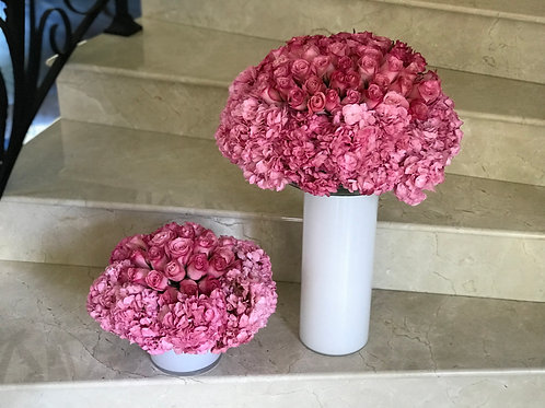 Two Level Size of Flowers with Vases