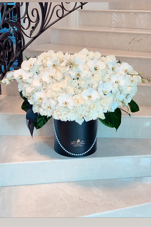 Extra Large Flower Arrangement all white