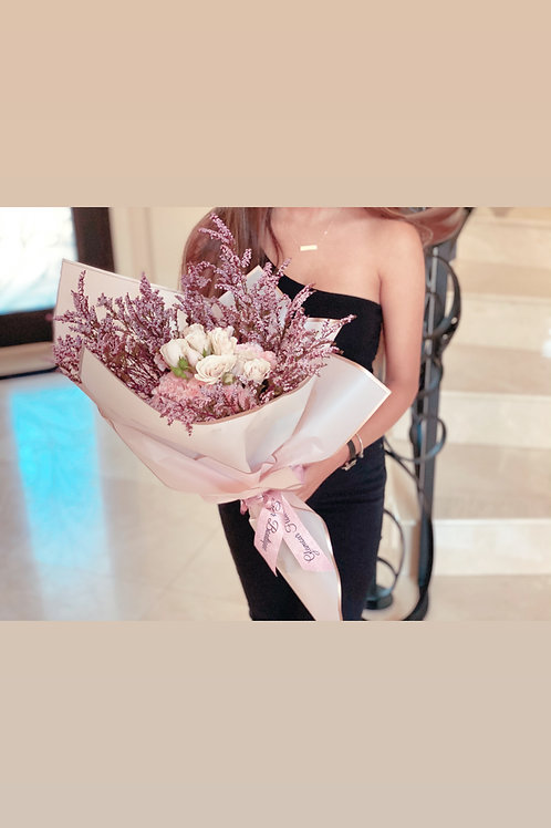 Small Size Hand Bouquet in Color Pinks