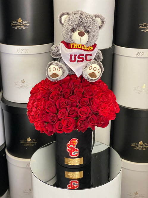 USC Bouquet Style With Teddy Bear