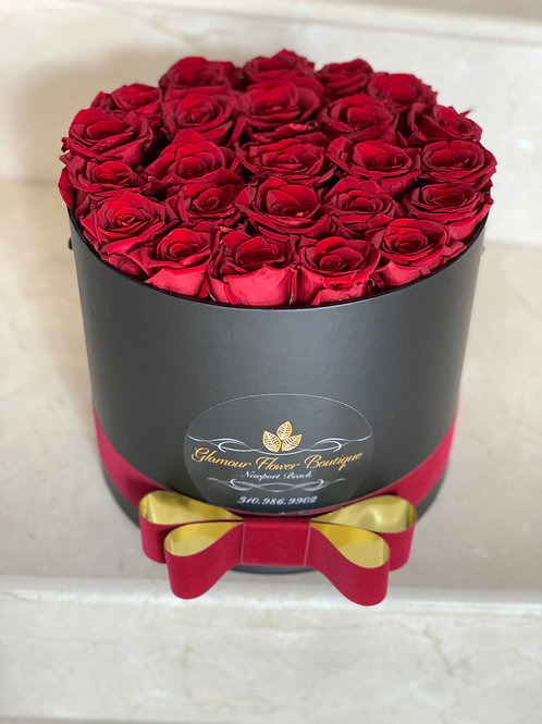Preserved Red Roses Box
