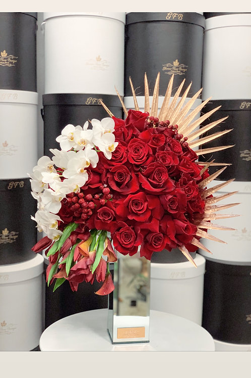 lage Size Rose Bouquet with Orchids