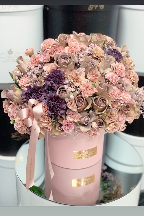 Medium Size Arrangement in Shads of Pink and Purple
