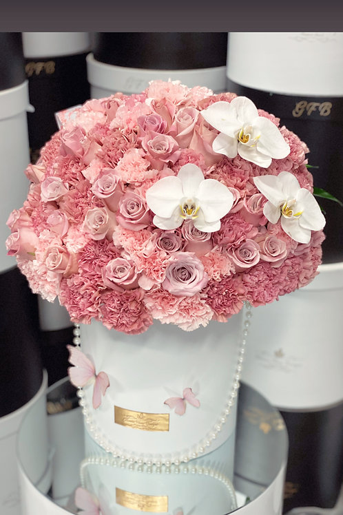 Large Flower Bouquet in Shades of Pink