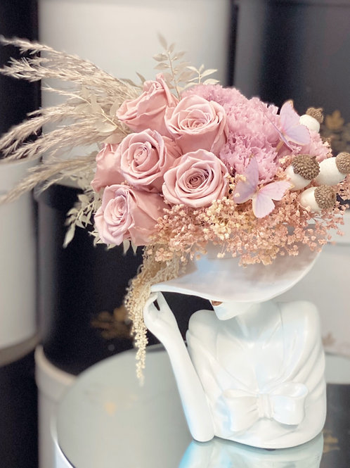 Lady's Hat Preserved Arrangement in Small Size