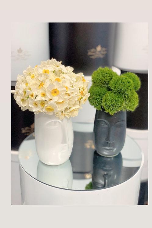 Unique Vases with Amaryllis Shiraz and Dianthus