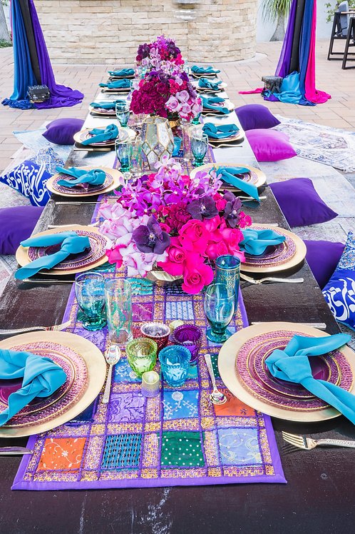 Medium Size Center piece in Color Hot Pink and Purple