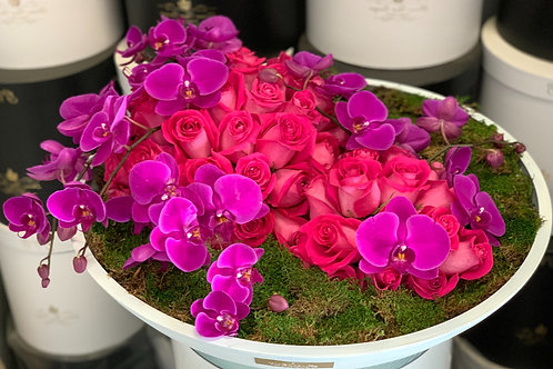 Extra Large Bowl Flowers shapes in hot pink colors