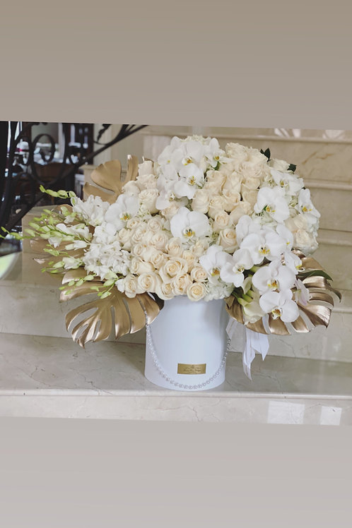 Large Size Arrangement in all white