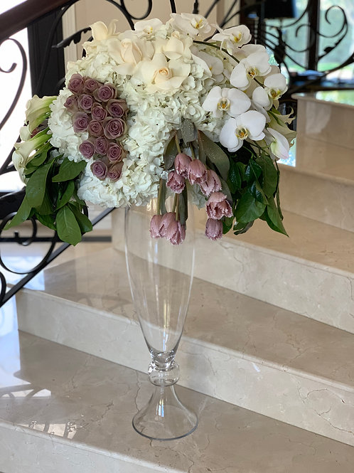 Extra Large Bouquet with Glass Vase