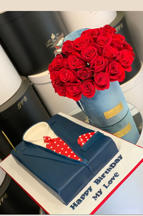 Set of Cake and Flowers