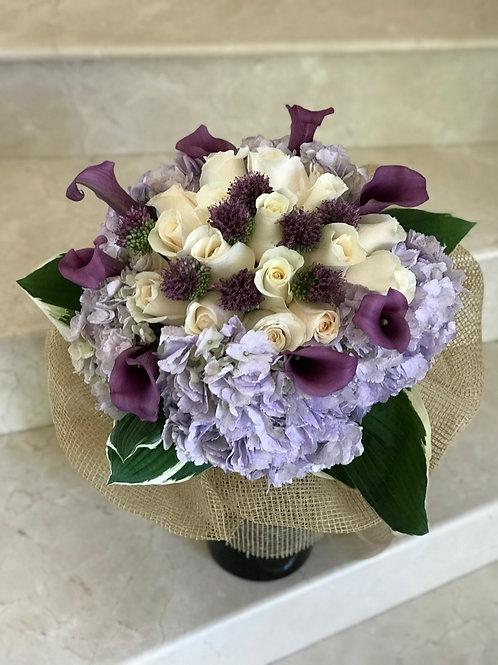 Purple Hand Bouquet