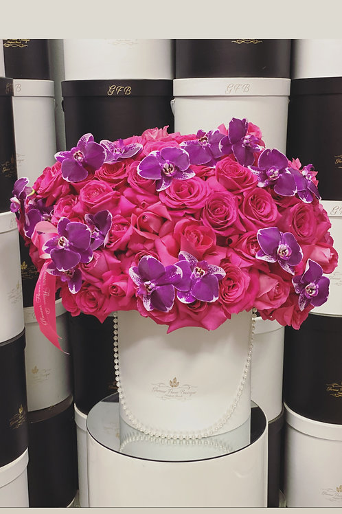 Extra Large Arrangement in Hot pink and Purple Colors