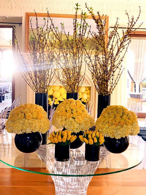 Set of Arrangements in Yellow Color