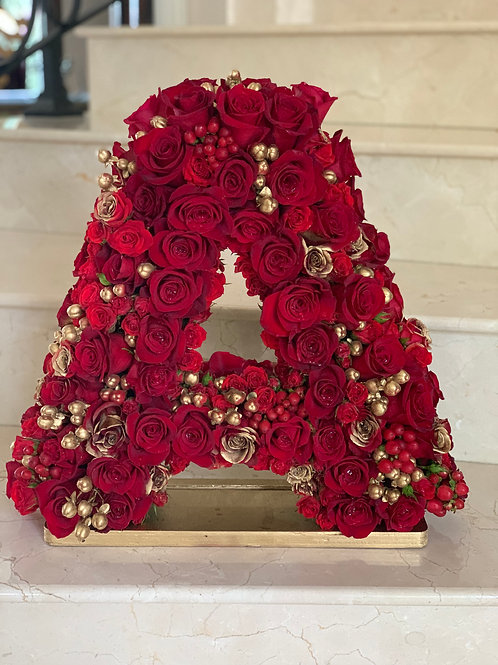 """Letter Name Flowers in 15""""H"""