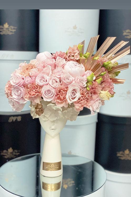 "Cake and flowers Set ""8"" tall Cake"""