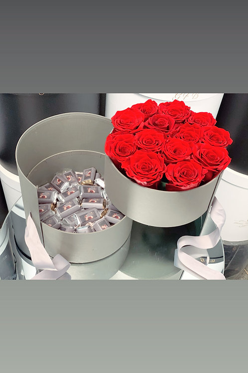 Preserven Roses with Chocolates