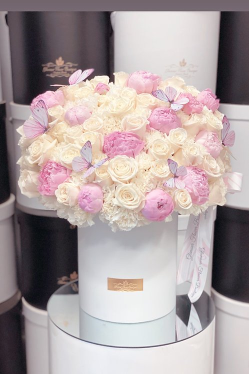 Large Box of Peonies and Roses