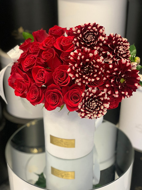 Medium Size Red and White Bouquet