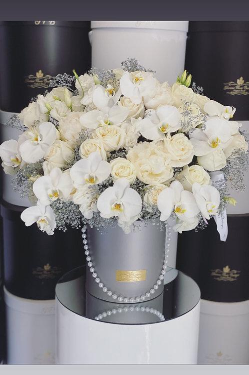 Large Size Flower Arrangement in Gray Box