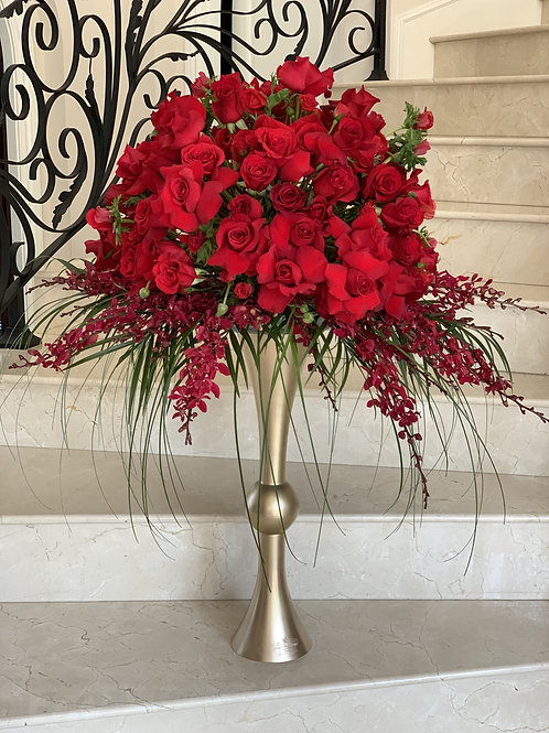 Extra Large Centerpiece in Red color