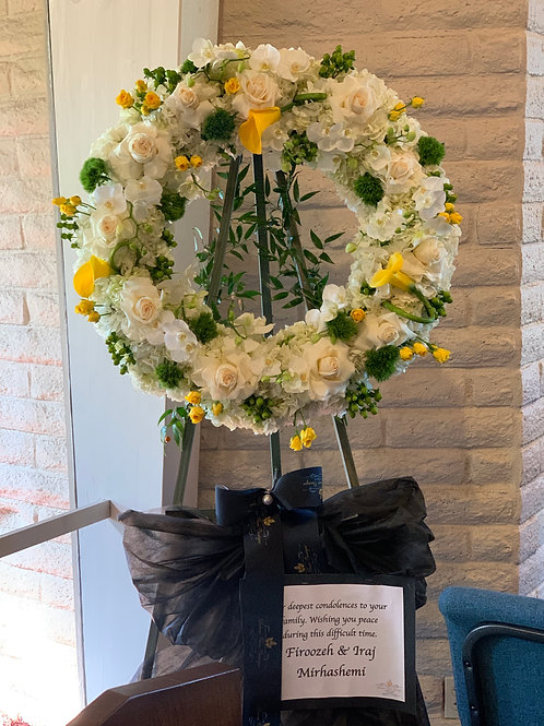 Funeral Stand Flowers Arrangment