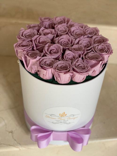 Purple Preserved Roses Box