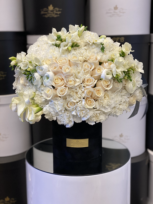 Medium To Large Arrangement in Color White