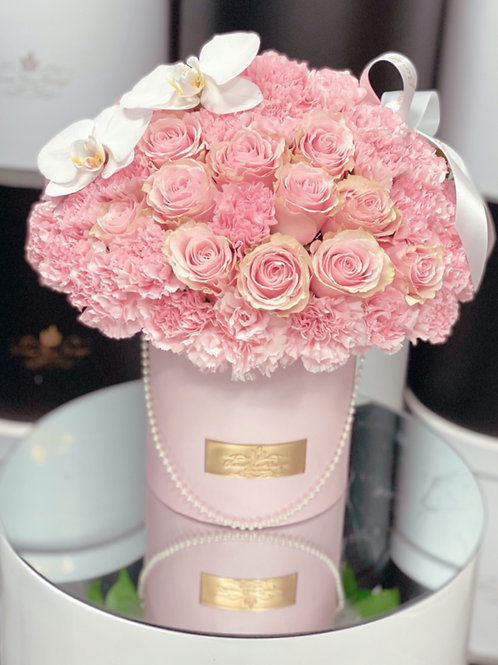 Small Flower Arrangement in all pink