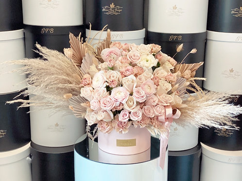 Light pink Box with blush color flowers in Large Size