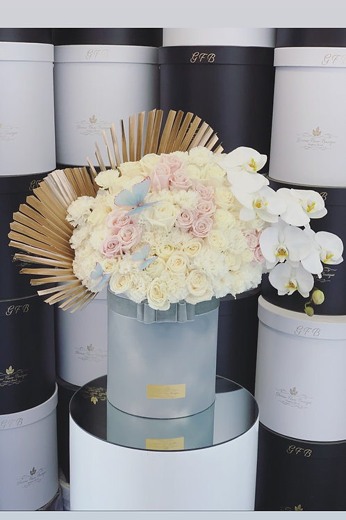 Large Size Flower Bouquet in Gray Box