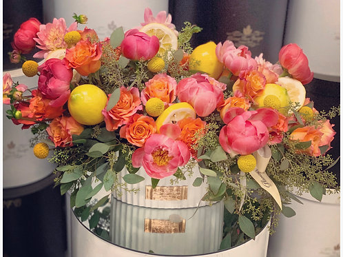 Large Spring Flowers in ceramic Vase