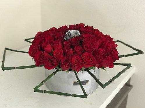 Large Cylinder Box of Roses