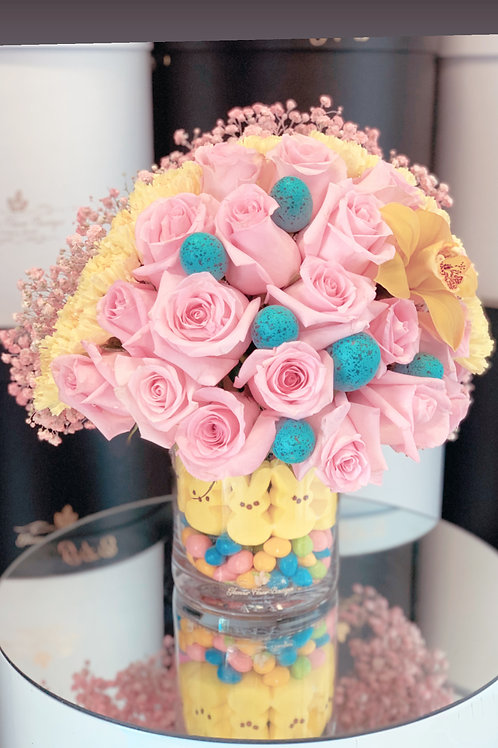 Small Flower Arrangement with Candy Vase