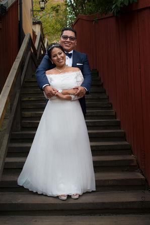 Bröllopsporträtt på Södermalm