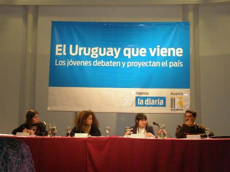 Verónica Pérez, Tania Ramírez (Mizangas), Gianella Nion y Mauricio Coitiño