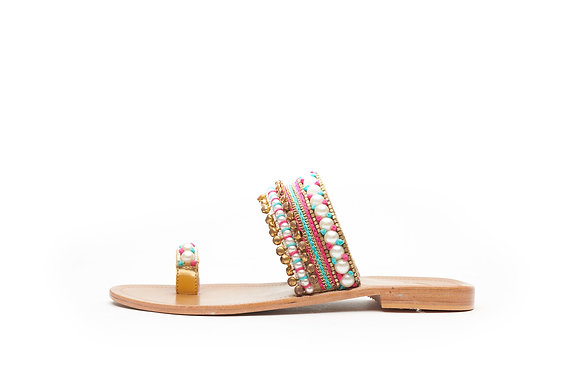 PEARL ACCENTED TOE RING STRAP