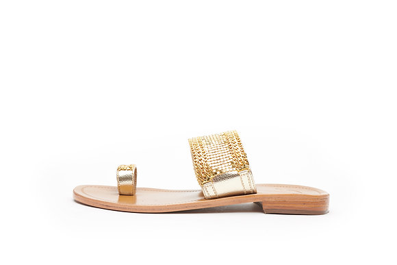 DOT & CHAIN TOE RING SLIDE