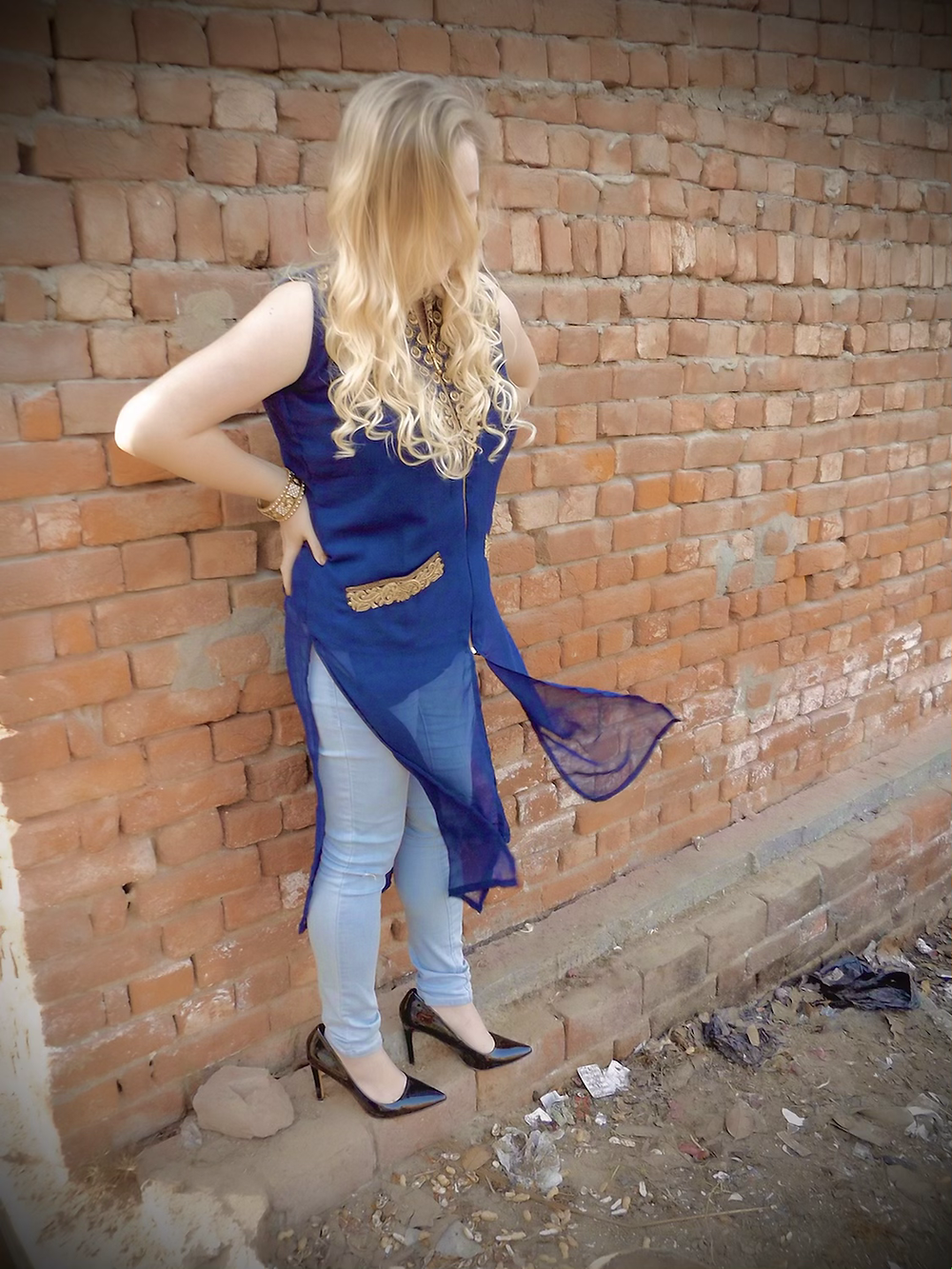 Wearing Mixed Attire; Kurti With Jeans